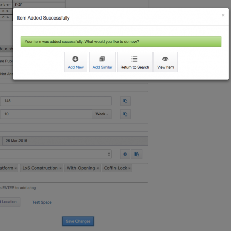Add Duplicate from the Success Modal